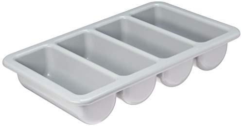 "Basicwise QI003406 4-Compartment Commercial Cutlery Holder, 21"" W x 13"" D x 4"" H"
