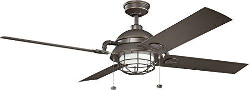 Kichler Lighting 310136OZ 310136WZC Maor Patio Outdoor Ceiling Fan, 65