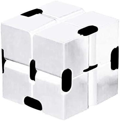 Jackallo Fidgetspeeltjes oneindige kubus nieuwe versie fidgetspeeltjes voor verlichting van stress en angst en het doden van de tijd oneindige kubus fidgetspeeltje voor kantoorpersoneel volwassenen en kinderen