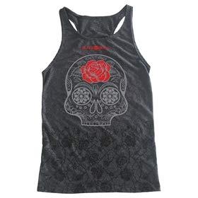 Camiseta Regata Chumbo Carol Saraiva - Black Skull - G