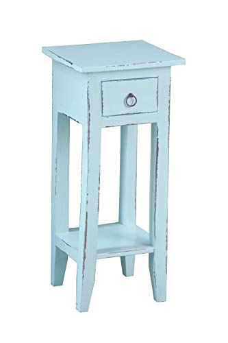 Sunset Trading CCTAB1792LDSB Shabby Chic Cottage Accent Table Sky Blue