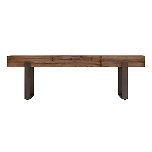 Southern Enterprises Dunlin Bench, Brown (Wood Recycled Dining Table)