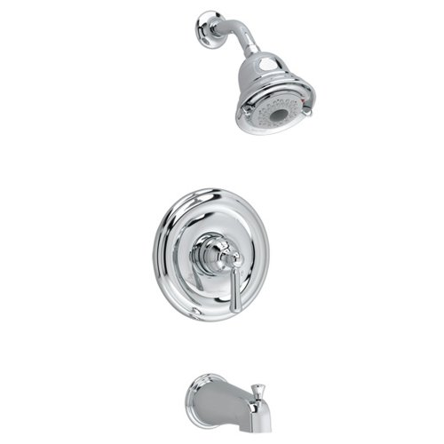 012611460449 - American Standard T420502.002 Portsmouth Bath and Shower Trim Kit with Round Escutcheon, Polished Chrome carousel main 0