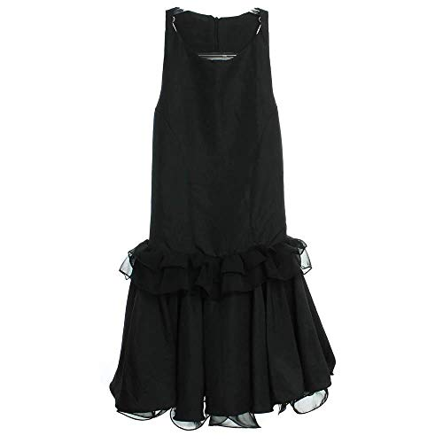 Vestido Tafetá Babado Seda