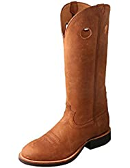Twisted X Mens Oiled Suede Buckaroo Cowboy Boot Round Toe - Mbk0029