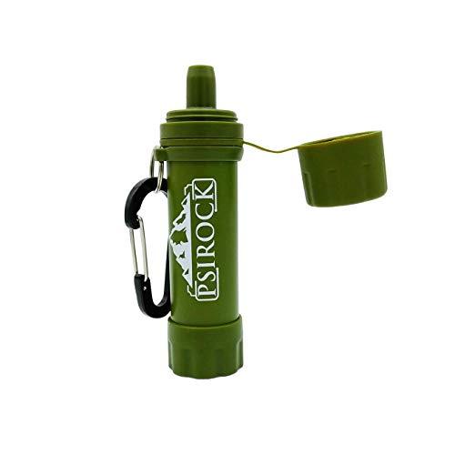 Filtro agua supervivencia portatil | No necesita pastillas potabilizadoras de agua | Bushcraft VIVAC | Filtro purificador de agua Supervivencia accesorios Filtro de agua personal mini regalo montana