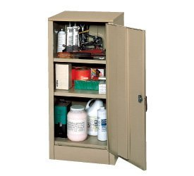 Edsal 6604TN Tan Steel Storage Cabinet, 2 Adjustable Shelves, 42'' Height x 18'' Width x 18'' Depth by EDSAL