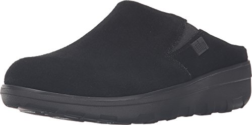 - FitFlop Women's Loaff Black Suede Clog 7M