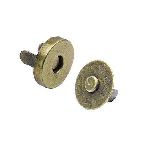 50sets Pack Dia.18mm Antique Brass Strong Magnetic Snap Fasteners Clasps Buttons for Handbag Purse Wallet Outdoor Backpack DIY Leather Craft Sewing Accessories ()