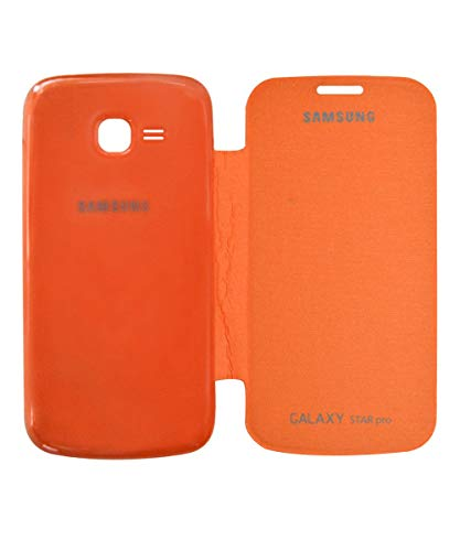 COVERNEW Flip Cover for Samsung Galaxy Star Pro S7262   Orange