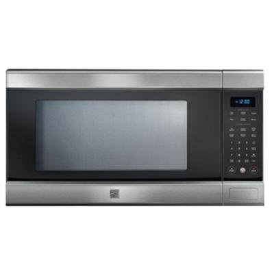 Kenmore 79153 elite stainless steel 1 5 cu ft countertop microwave w truecookplus technology for Stainless steel interior microwave reviews
