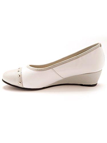 Pediconfort bianco Donna bianco Pediconfort argento argento Pediconfort Ballerine Ballerine Donna Ballerine 554wqrO
