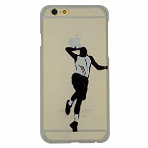 SHOUJIKE Basketball Series of Slam Dunk Pattern PC Hard Transparent Back Cover Case for iPhone 6 Plus