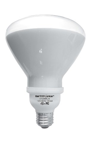 EarthTronics R423SW1B 23-Watt 2700K R40 CFL Floodlight, Soft White