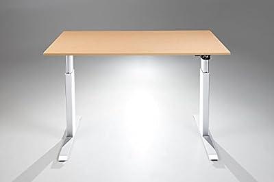 FlexTable Electric Standing Desk w/ White Frame