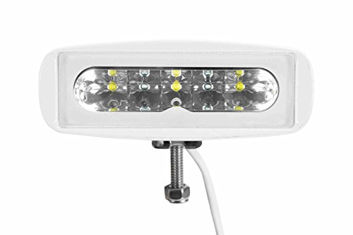 LED Spreader Deck Light- (4) LEDS- White Aluminum Housing - Dual Colors - Dimmable(-RED-WHT) by Larson Electronics (Image #1)
