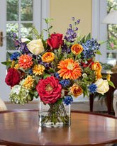 Silk Zinnia (Mixed Silk Flower Bouquet)