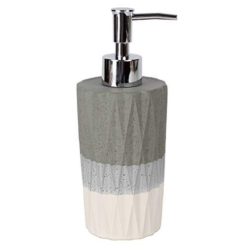 SKL HOME by Saturday Knight Ltd. Cubes Lotion/Soap Dispenser, Dove Gray