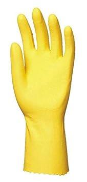 Euro protecci/ón 5027/Super 5000/par de guantes l/átex, uso dom/éstico amarillo, Amarillo, 5028