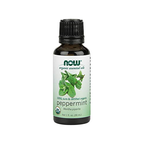 (NOW Essential Oils, Organic Peppermint Oil, Invigorating Aromatherapy Scent, Steam Distilled, 100% Pure, Vegan, 1-Ounce)