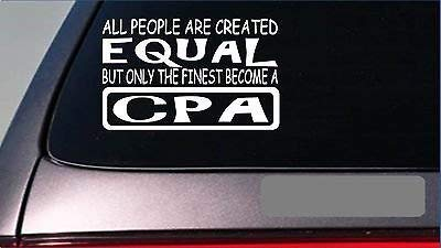 CPA Equal Sticker 8' Vinyl Taxes Accounting Software Desk Computer