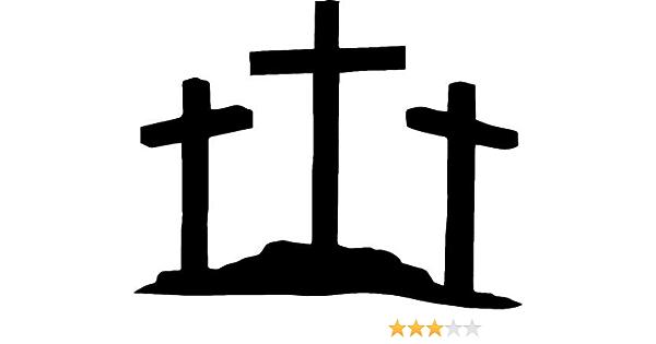 "JESUS FISH Vinyl Decal Sticker Car Window Bumper God Religious Symbol Cross 4/"""