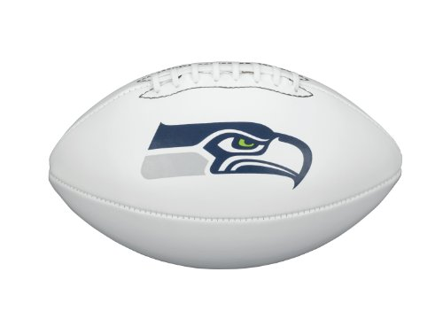 NFL Team Logo Autograph Football Seattle (Nfl Team Logo Football)