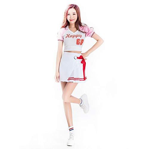 Achiyi Womens Cheerleader Costume Uniform Halloween Fancy Dress Cosplay Costume Women's Musical Cheerleading Uniform 1 L]()