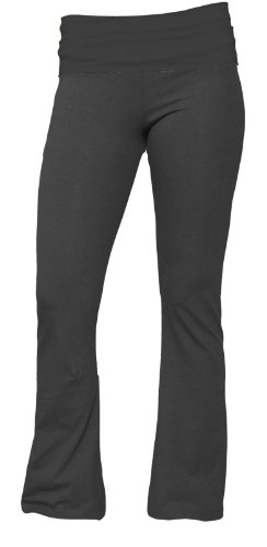 UPC 722811571530, Boxercraft Charcoal Yoga Pant with Fold-Over Waist, Girls Sizes (Large, Charcoal)