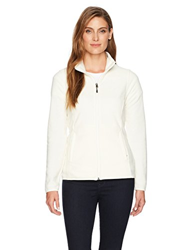 Amazon Essentials Womens Full-Zip Polar Fleece Jacket, Ivory Snow, Medium