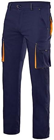 Velilla 103008S/C0-20/T38 Pantalones, Negro y Amarillo Fluorescente, 38 Velilla Confecciones