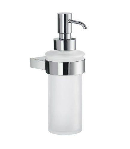 Smedbo SME_AK369 Soap Dispenser Wall mount, Polished Chrome - Smedbo Glass Wall Soap Dispenser
