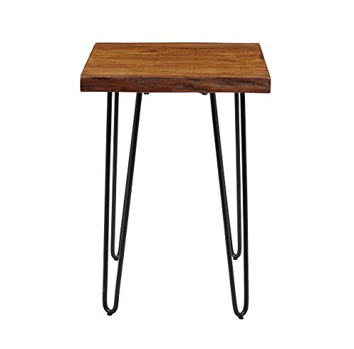 Jofran 1780-7 Nature s Edge Chairside Table, 18 W X 24 D X 24 H, Acacia Finish, Set of 1