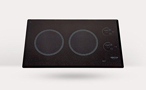 Kenyon B41579L Lite-Touch Q 2-burner Trimline Cooktop Landsacpe, black with touch control - two 6 . 5 inch 208V UL