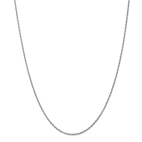 14k White Gold 1.3mm Heavy Baby Link Rope Chain Necklace 14 Inch Pendant Charm Fine Jewelry Gifts For Women For Her