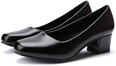 GUCHENG Chunky Heels Pumps Low Shoes