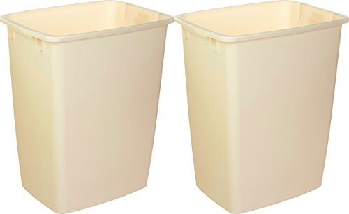 Rubbermaid FG280500BISQU 21 Qt Bisque Wastebaskets