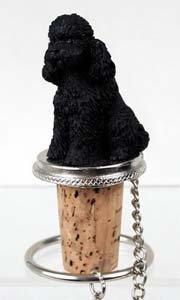(Conversation Concepts Poodle Bottle Stopper (Black Sport cut))
