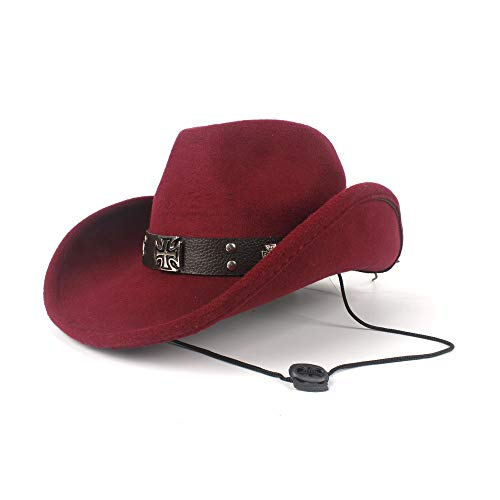 Men's Cool Cowboy Cap Women Men Autumn and Winter Hat Ethnic Style Cap Rivets Punk Wind Wool Winter Western Cowboy Hat Gentleman Jazz Sombrero Elegant Lady Cowgirl Hat Elegant Cowgirl Hat