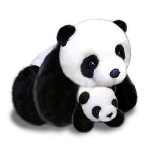 Amazon Com Plush Panda Bear Mother And Baby Panda Bears