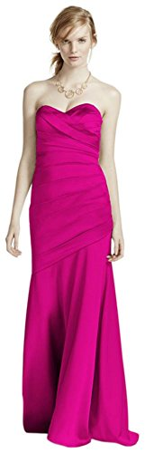 Long Strapless Stretch Satin Bridesmaid Dress Style F15586 – Begonia