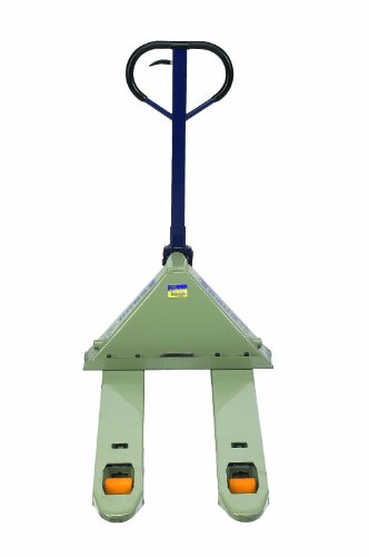Wesco 272744 Deluxe Adjustable Fork Pallet Truck with Handle, Polyurethane Wheels, 5500 lbs Load Capacity, 47
