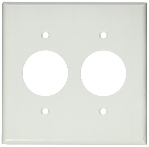 Leviton Power 2 Gang Outlet (Leviton 88052 2-Gang Single 1.406-Inch Hole Device Receptacle Wallplate, Standard Size, Thermoset, Device Mount, Midway Size, White)