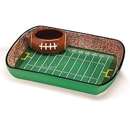 - Football Stadium Chip And Dip Sports Serving Set