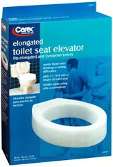 Carex Toilet Seat Elevator, Elongated, Pack of 5