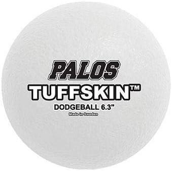 """TuffSKIN Foam 6"""" Dodgeball Set of 12 White"""