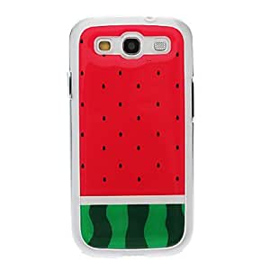 Watermelon Pattern Neutral Stiffiness Silicone Gel Back Case Cover for Samsung Galaxy S3 I9300