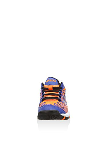 asics Gel-Solution Speed 2 GS - Zapatillas para deportes de exterior de sintético para niño - 4230 BLUE/FLASH ORANGE/SILVER
