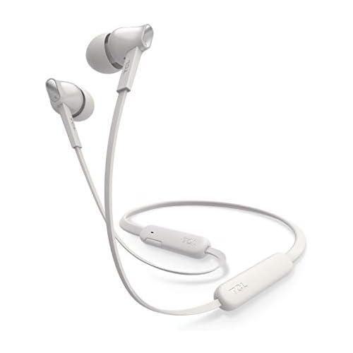 chollos oferta descuentos barato TCL MTRO100BT Auriculares In Ear inalámbricos con micrófono Bluetooth 5 0 con cancelacion de ruido banda para el cuello 18H bateria carga rápida Blanco