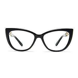 TIJN Cat Eye Acetate Optical Frame Eyeglasses Designer Glasses for Women